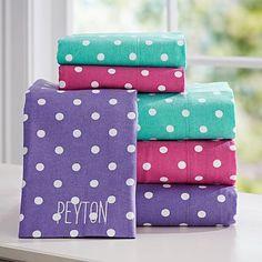 Dottie Flannel Sheet Set #pbteen