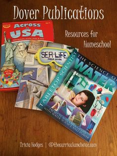 You might be familiar with Dover Publications for fun learning and coloring books. But did you know about ALL they have available for homeschool? ~Don't miss the review and giveaway!!