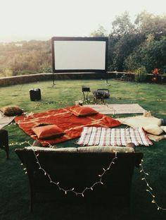 movie theaters, dates, dream, movi night, backyard, movie nights, summer movies, parti, family movies