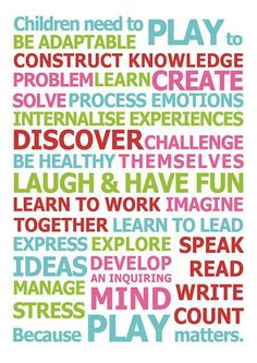 #PLAY is the way the brain learns! Isn't this great?!