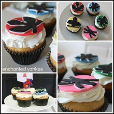 Power Rangers Birthday Party -- Power Ranger Cupcakes