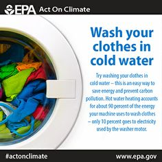Switching to cold water while doing your laundry can save you $40 annually & help you #ActOnClimate
