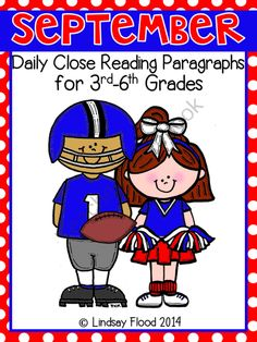 Daily Close Reading September from PrimaryPolkaDots on TeachersNotebook.com -  (35 pages)  - Great for CLOSE READING!
