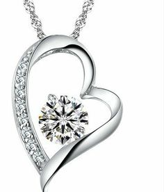 Valentine's Day gifts for her.... Swarovski Austrian Crystal Elements Eternal Love Heart Pendant Necklace - 18