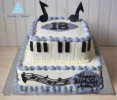 piano cake, music cake, ashley cake, birthday cakes