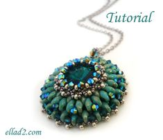 Tutorial+Eau+de+source+pendant++Beading+tutorials+PDF+by+Ellad2,+$6.50