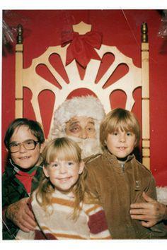 Santa with a black eye? Don't Sit on Bad Santa's Lap!