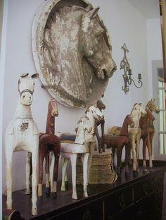 Folk Art Horses.