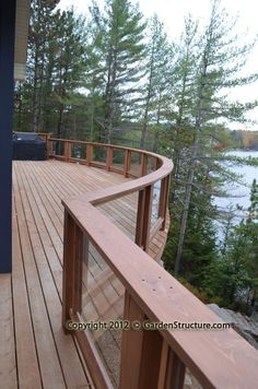 Large Curved Deck in Muskoka
