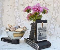 Vintage camera becomes a vase.
