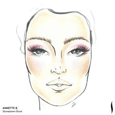 Winning SEPHORA + PANTONE UNIVERSE Face Chart Artistry Competition. Face chart designed by Annette B. of Stonestown Store. #Sephora #makeup #inspiration