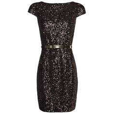Contrasted Sequins Velvet Dress ($130) ❤ liked on Polyvore