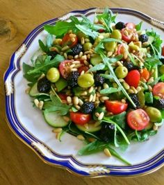 Recipe For  Olive Pine Nut and Zucchini Salad