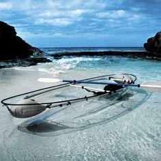 transparent kayak!