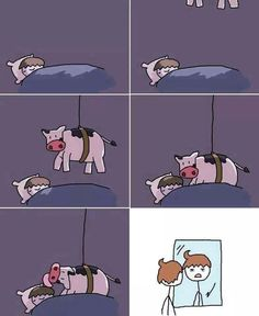 Funny..so that's how our hair gets messed up