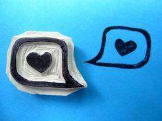 Heart in Speech Bubble Stamp