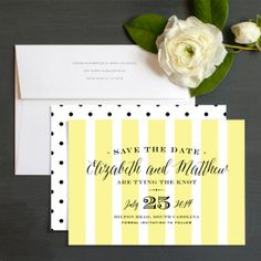 Posh Affair Save The Date Cards by Brooke Chandler | Elli