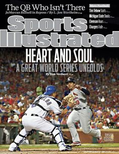 On the Cover: Jon Jay, Baseball, St. Louis Cardinals  Photographed by: Al Tielemans / SI