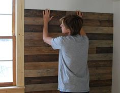 creative little daisy: Palletless Pallet Wall how to~
