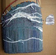 pin weav, tapestri weav, sew weav, weaving projects, ruth weav, bag continu, pebbl bag, bags, weav project