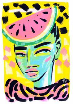 lynni zulu, melon, lynnie zulu, lynniezulu, para cartão