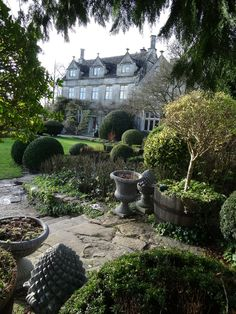 Barnsley House, reflecting a January sky, surrounded by the robust structure and textures of the garden - #Cotswolds, England http://www.barnsleyhouse.com/