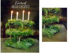 tiered wreath center
