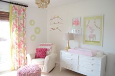 This #babygirl #nursery is pretty in pink.