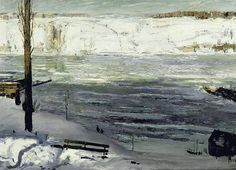 "George Wesley Bellows,""Floating Ice"""
