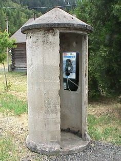 old school phone booth