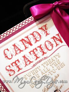 candy station sign