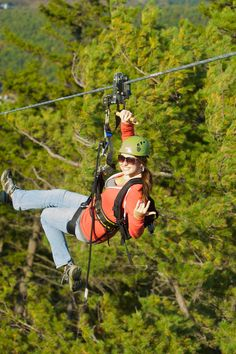 Guides just want to have fun at Gunstock Mountain Resort.  The new ZipTour is awesome!  The tour includes the 4th and 6th longest ziplines in the world! (so fun and done)