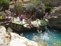Benidorm watervallen van Algar via @travelvalley