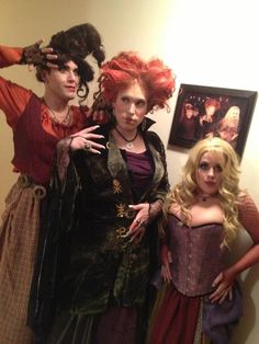 three guys went as the Sanderson Sisters from Hocus Pocus. yup.