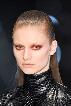 The slicked back wet look at Gucci.