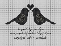 Penelopis' cross stitch freebies: The birds/Ptaszki