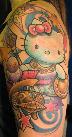 hello kitty roman tattoo