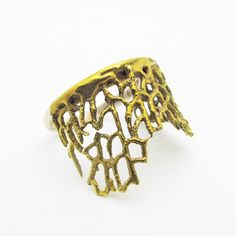 Fan Coral Ring now featured on Fab.