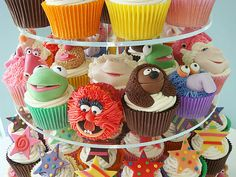 Awesome muppet cupcakes