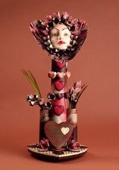 Beautiful Valentine's sculptures in chocolate by Joseph Schmidt