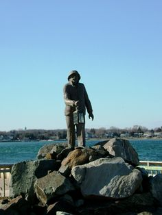 Located at Loughran's Point Park on the Inlet in Point Pleasant Beach, New Jersey, the Fisherman's Memorial watches over the fishing vessels who leave every day, and hopefully return. For those who don't, the Memorial stands tall for them, always there with a guiding light.