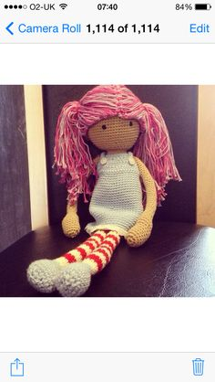 Astrid doll pattern by Annaboo's house. Made by Tracey Chorley April 2014