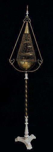 "Antique Vintage Bird Cage Hendryx ""Teardrop"""