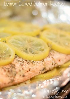 Im Topsy Turvy: lemon herb salmon recipe