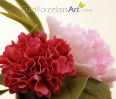 Carnations!  by Cold Porcelain Art  Handcrafted Flowers