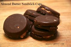 Paleo Almond Butter Sandwich Cups - Cheerfully Imperfect