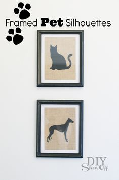 DIY Pet Project: Framed Pet Silhouettes on Burlap