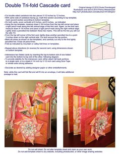 Card Templates :: Double Tri-Fold
