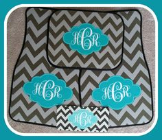 Car Mats Front and Back Personalized Car Mats by ChicMonogram, $120.00