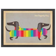 Hot Diggedy Dog Framed Wall Art